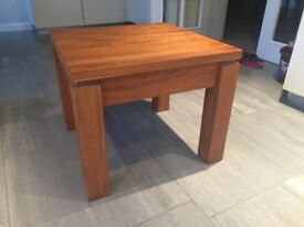 Stunning Solid Oak Side Table perfect condition 60cms square top and height of 50cms.