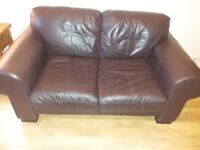 HARVEYS BROWN LEATHER 2 SEATER SOFA SETTEE COLLECTION HENDON NW4
