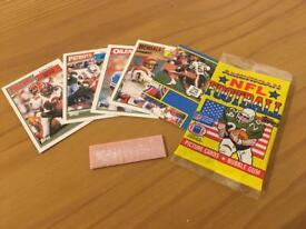 1 x unopened pack of Topps NFL 1987 collectors cards
