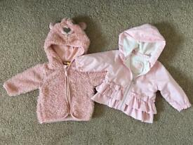 2 baby girl jackets
