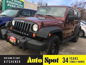 2007 Jeep Wrangler XLimited/2TOPS/METICULOUSLY MAINTAINED!/RARE/