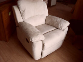 soft leather reclining chair
