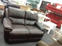 2 seater leather sofa BHF Glasgow