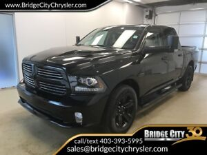 2017 Ram 1500 Sport- BLACK APPEARANCE PACKAGE, Low Km's!