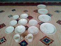 14 Piece Floral Design Tableware