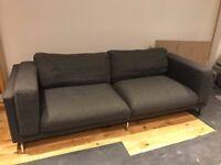 Ikea Nockeby 3 seater dark grey sofa