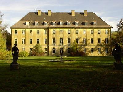 Beeindruckendes schönes barockes Schloss Uhyst am Bärwalder See