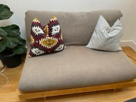 Futon Company Two Seater Sofa / Sofa Bed Futon - Natural Brown, RRP £650
