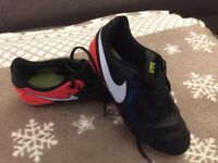 Football Nike tiempo boots size 1