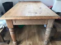 Rustic Wooden Dining Table Seats 6-8