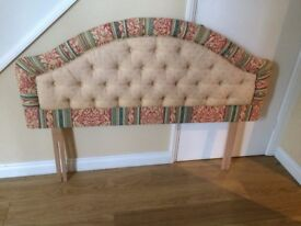 4ft 6in Headboard - Professionally upholstered -good condition- pet free/smoke free home