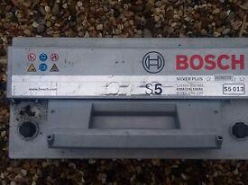Bosch car battery S5 013 silver Plus
