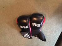 Boxing bag Sit up bench & boxing gloves