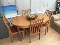 Dining table & chairs (extending) - cheap!!!