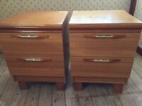 Chest of drawers and two bedside tables