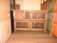 brand new 4ft 2 tier rabbit /guinea pig hutch in dark oak