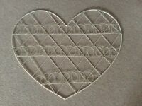 Heart shaped wire notice board or card holder