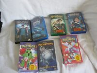 Joblot 7 video tapes for car boot or own use, Harry Potter, Digimon, Rocketman, Iron Giant etc