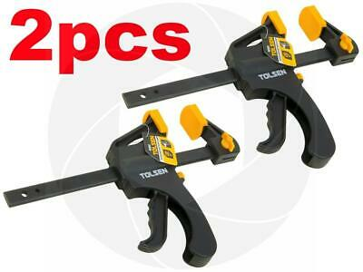 2pcs 6in Ratcheting Bar Locking Holding Clamp Ratchet Spreader Squeeze - Lock Bar Clamp