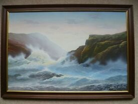 Brian Horswell Signed Oil on Canvas - Stunning Seascape (1 of 2)