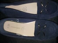 2 pairs of real leather [suede] loader size 6 shoes