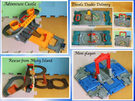 Thomas the tank take and play playsets Diesels Double Delivery Adventure Castle Rescue from Island f