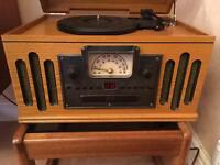 Scott's of Stow 2414 CD Cassette Record Player AM/FM Radio Vintage look Music Centre