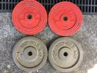 2 x 6kg and 2 x 7.5kg weight plates