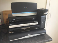 Various set top boxes HD sky box and two routers all in working order