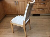 Ikea Kitchen Chairs x 4 (No Table) Beach with Cream Canvas