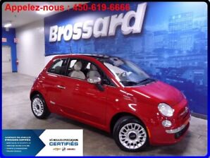 2013 Fiat 500 LOUNGE, MAGS, CUIR, TOIT OUVRANT, BLETOOTH