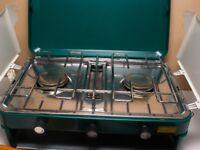 SunnGas Double Burner & Grill Cooker & Gas Bottle