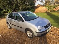 UNDER £ 1000 BARGAIN - 2003 VW Silver Polo , 5 Door,Fantastic VW 1.9 Diesel Engine,Drives like NEW