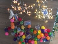 Set of 5 fairy christmas lights battery operated ( batteries included) set of3