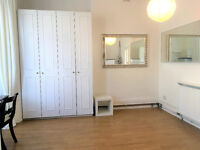 Short let ! Nicely presented self-contained studio flat with separate kitchen and garden in Acton