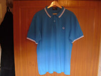 """FRED PERRY POLO SHIRT 24"""" PIT TO PIT, AS NEW."""