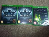 Alien isolation brand new and sealed and diablo 3 reaper of souls brand new and sealed.