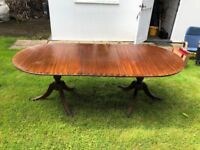 Reproduction antique dining room table with 4 chairs