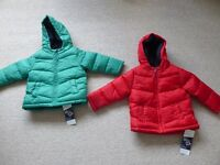 new M&S warm padded jacket 18mths-2yrs