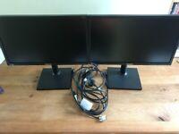 """Dual 22"""" Samsung monitors"""