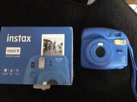 Instax Mini 9 instant camera - Cobalt Bluel