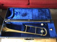 B&S Trombone with accessories and carry case
