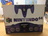 Boxed Purple Funtastic Nintendo 64 Console (N64) £150.00