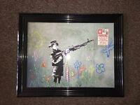 Banksy 'Child' Liquid Art. (BRAND NEW)