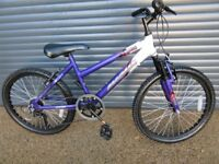 CHILDS MAGNA FRONT SUSPENSION BIKE IN EXCELLENT ALMOST NEW CONDITION..(SUIT APPROX. AGE. 8 / 9+)..