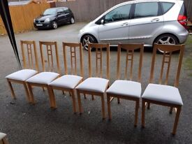 6 Ikea Aaron Solid Wood Chairs FREE DELIVERY 171