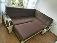 CAN DELIVER - BRAND NEW CORNER SOFA BED WITH STORAGE