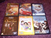 6 disney dvds