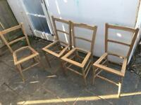Free - Four Lovely Wooden Chairs for upholstering