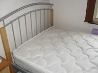 4ft bed metal good condition clean mattress buyer to collect